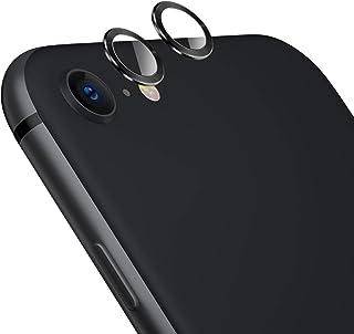 TAMOWA skottsäkert kameraskydd för iPhone SE 2020, 2-pack, aluminiumlegering 360 graders skydd bakkamera lins härdat glas ...