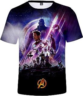 T-Shirt Avengers pour Hommes Devenez Une l/égende Affiche Endgame Marvel Cotton Black