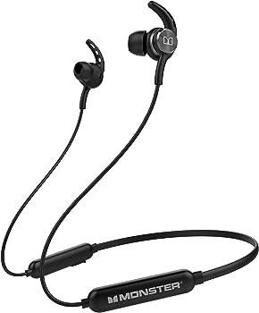 Monster IPX7 Waterproof Bluetooth 5.0 Headphones with Microphone