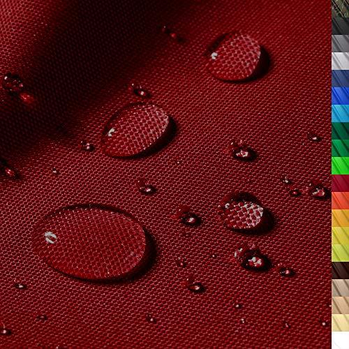 1buy3 'Monaco Wasserdichter Polyester Stoff | 12.000 mm Wassersäule | Farbe 10 | Dukelrot | Polyester Stoff 160cm breit Meterware wasserdicht Outdoor extrem reissfest