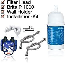 Kit di Installazione per Filtro subacqueo Neues Wasser Group BRITA Tubi Testa Filtro Cartuccia filtrante BRITA P1000 Adattatore per valvola angolare 1//2