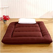 Japanese futons Mattress,Foldable Futon Tatami Mattress Soft Thick Japanese Student Dormitory Mattress,Brown