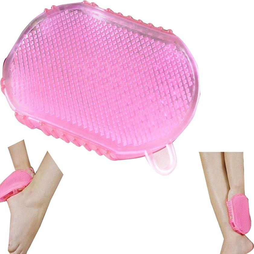 マンハッタン快適アルプスTシリコンマッサージフットブラシ/フットグルーマー 足洗い用/バスブラシ、/フットブラシ/汚れ角質除去 ストレス解消
