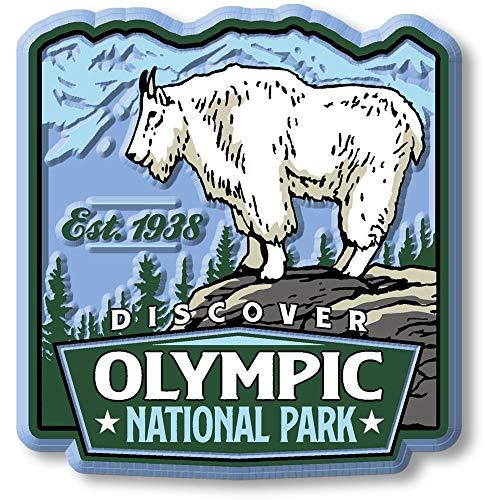 Olympic National Park Vintage Rubber Souvenir Vintage Rubber Magnet