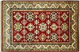 Alfombra afgana Kazak fina, 180 x 240 cm, hecha a mano, color rojo