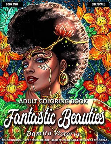 Adult Coloring Book Fantastic Beauties Book 2 Women Coloring Book for Adults Featuring a Wonderful product image