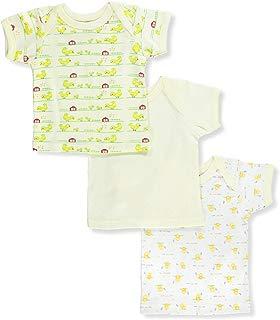 Big Oshi Unisex Baby 3-Pack Lap Shoulder T-Shirts