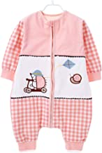 JXWANG Newborn Baby Swaddle 100% Naturally Colored Cotton Kids Sleeping Bag 0-6 Year Old,Hedgehogpowder-XL