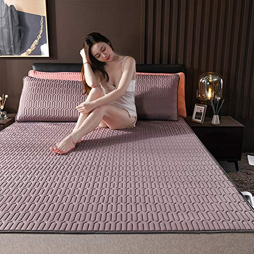 Zhang Summer Breathable mattress Latex ice silk mattress summer sleeping mat Complete set pillowcase Mattress sheets Foldable Soft,I,1200 * 2000mm