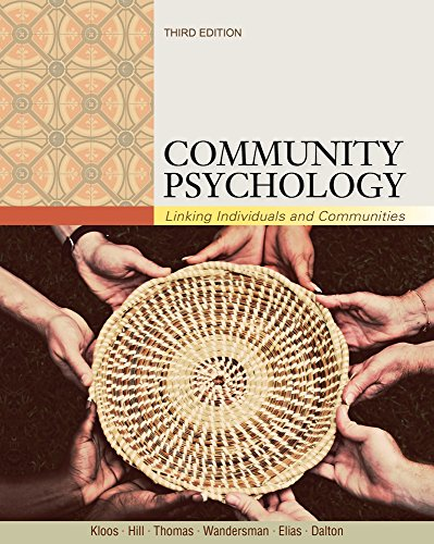 Cengage Advantage; Community Psychology: Linking Individuals and Communities (Cengage Advantage Books)
