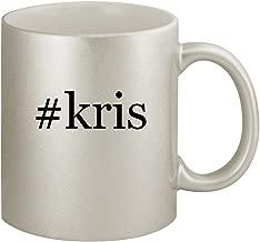 #kris - Ceramic Hashtag 11oz Silver Coffee Mug, Silver
