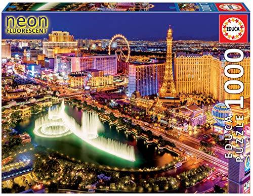 Educa -Las Vegas Neon Puzzle, 1000 Piezas, multicolor, 1.000 (16761)