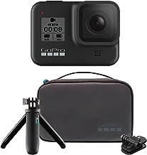 GoPro HERO8 Black Bundle - Cámara HERO8 Black + Travel Kit (Estuche de viaje + Shorty + Clip giratorio magnético)