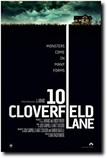 Mile High Media 10 Cloverfield Lane Movie Poster 24x36 Inch Wall Art Portrait Print - Ready to Frame