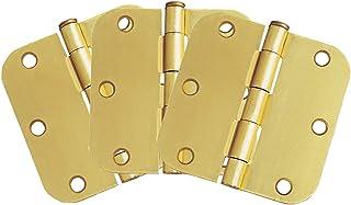 """Design House 181396 3-Pack Hinge 3.5"""", Satin Brass"""