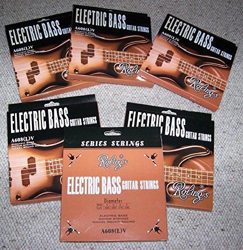 Blocco 6 Pack completi per Basso a 4 corde - Muta Roling's Bass guitar Strings