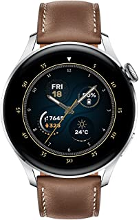 HUAWEI WATCH 3   Connected GPS Smartwatch with Sp02 and All-Day Health Monitoring   14 Days Battery Life - Brown Leather S...