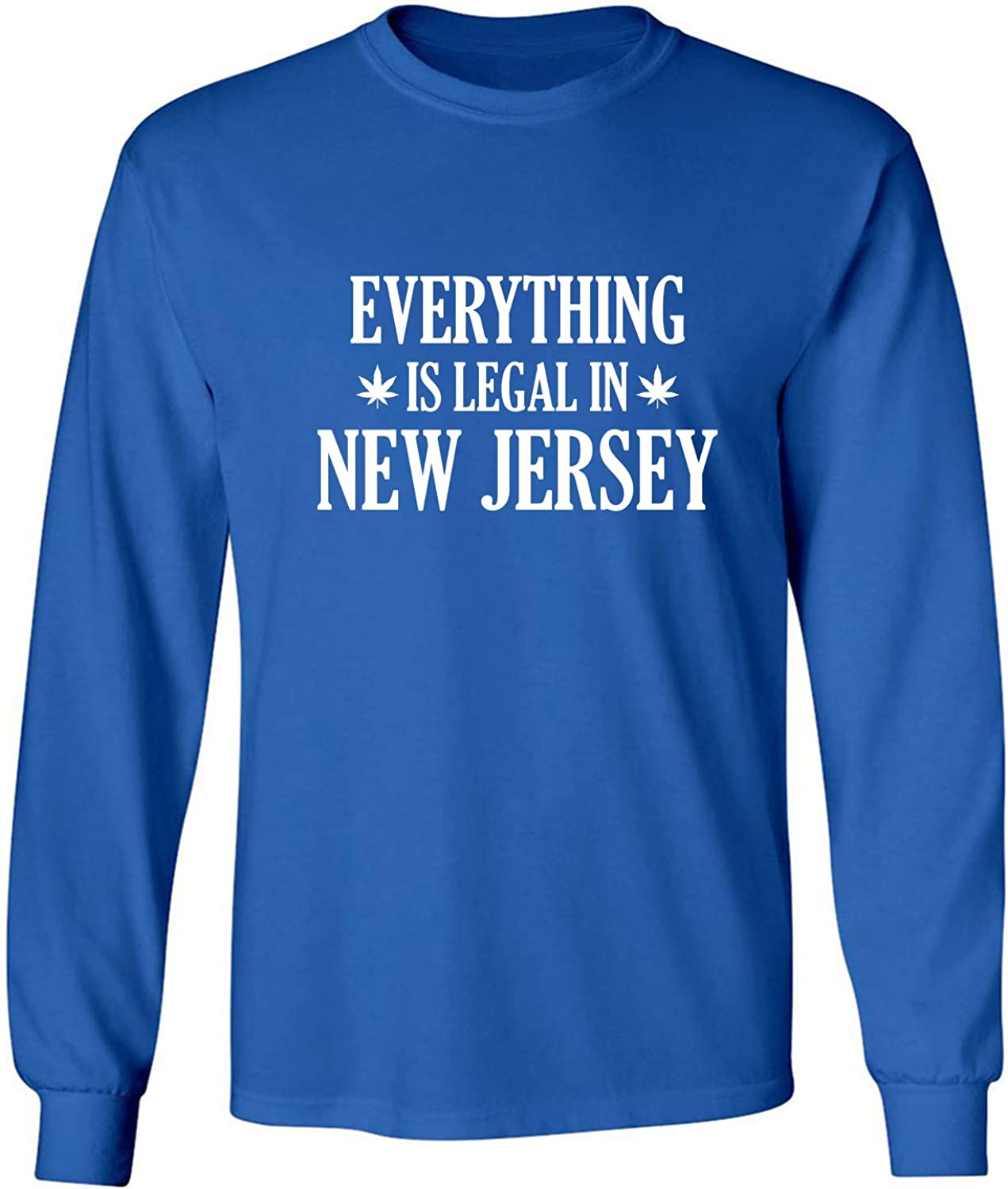 Everything is Legal in New Jersey Adult Long Sleeve T-Shirt in Royal - XXXXX-Large