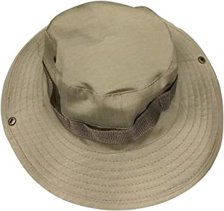 Boonie Bucket Hat Hiking Fishing Bush Cap for Outdoor Activites (Khaki)