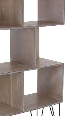 "Wood Shelf, Black/Brown, 47"" x 26"", Black/Brown, 47"" x 26"""