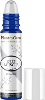 Deep Muscle Essential Oil Blend Roll On 10 ml 100% Pure Pre-Diluted Therapeutic Grade for Joint Neck Back Spasms Stiffness Sore Tendon Pain.