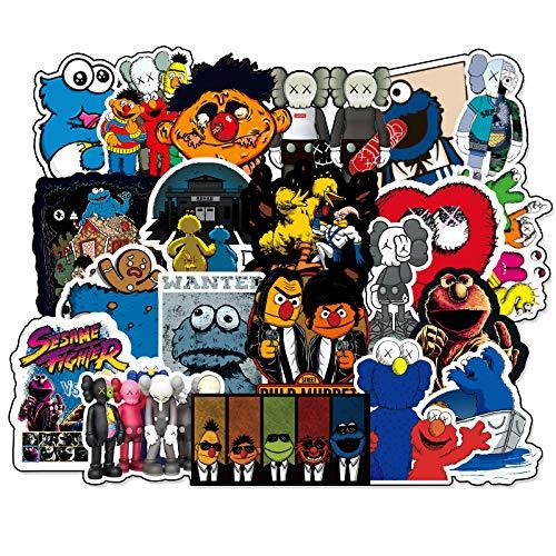 HAOZH Sesame Street Sticker Katla Bagaglio Sticker Chitarra Skateboard Notebook Valigia Sticker 70 Fogli