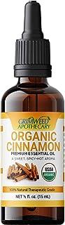 Premium Organic Cinnamon Bark Essential Oil – 100% Pure – All Natural - 15mL - USDA Certified – Therapeutic Grade – Undilu...