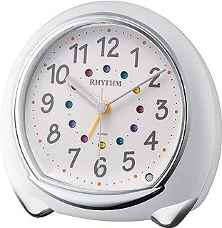 RHYTHM (Rhythm Clock) Fancy continuous second hand Alarm Abisko SR white 8RE653SR03