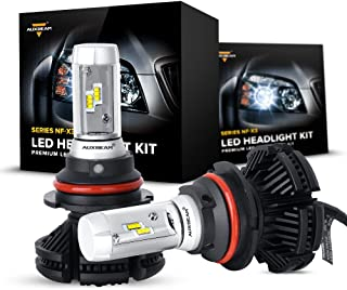 Auxbeam 9007 Led Headlight Bulb NF-X3 Series LED Headlight Bulbs Conversion Kit with 2 Pcs of 9007 HB5 Headlights 50W 5500lm LED Chips Hi-Lo Beam - 1 Year Warranty