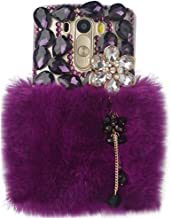 Yaheeda LG Stylo 4 Case with 2 in 1 Stylus and Ballpoint Pen, [Luxurious Series] 3D Handmade Warm Plush Shiny Crystal Bling Case with Peals Metal Accessory for LG Stylo 4