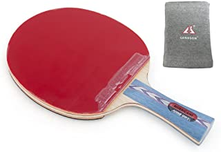 DHS HURRICANE-II Tournament Ping Pong Paddle, Table Tennis Racket - Shakehand with a KAMTS Wrist Guard