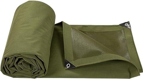 Tarpaulin HUO Bache Forte, Bache De Qualité Supérieure, Bache Imperméable à La Poussière De Toile Imperméable - Armyvert - 650 G M2 (Taille   4  6)