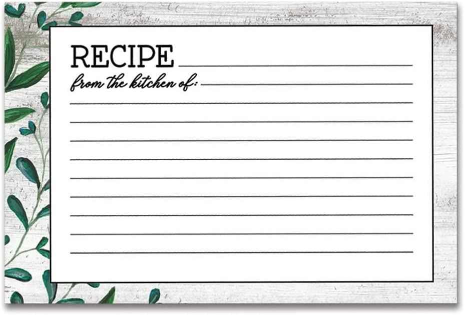 Brownlow Gifts 36-Count Cardstock Recipe Cards, 4 x 6-Inch, Vintage Kitchen