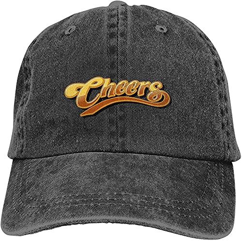 XTTGGD Sombrero de Vaquero Gorra de béisbol Retro Lavable Ajustable de algodón Negro_YBL0603