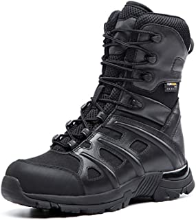 Suetar Unisex Waterproof and Non-Slip Mid-calf Leather Military Hiking Boots LQ2069