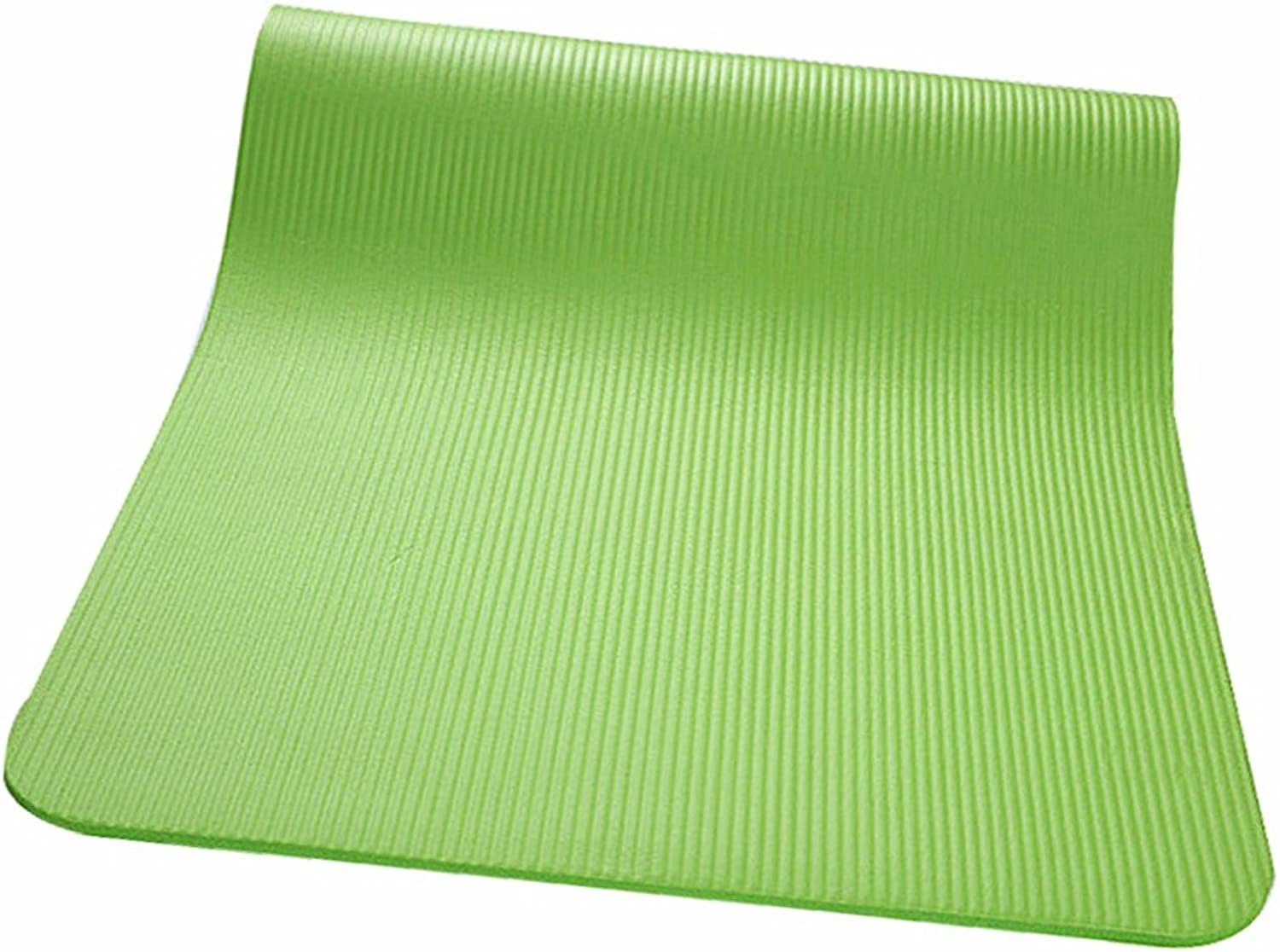 GTVERNHEnvironmental thick yoga mat beginners fitness pad antislip pad men and women dance movements and odorless 18361cm, green
