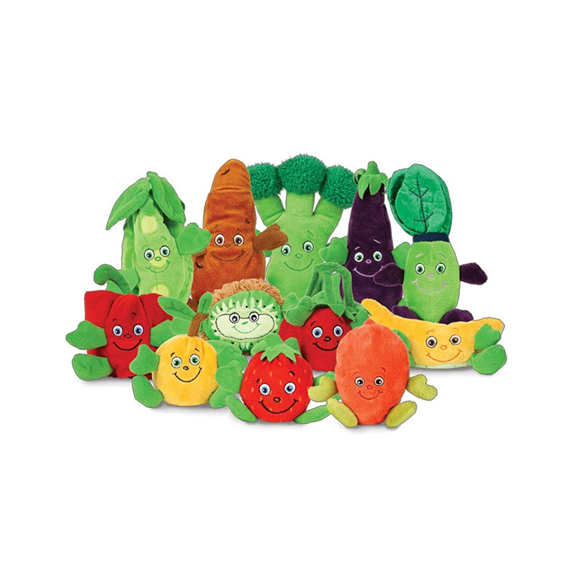 Learning Zonexpress Fruit and Veggie Plush Toys-Healthy Games for Kids | Garden Heroes Plush Characters