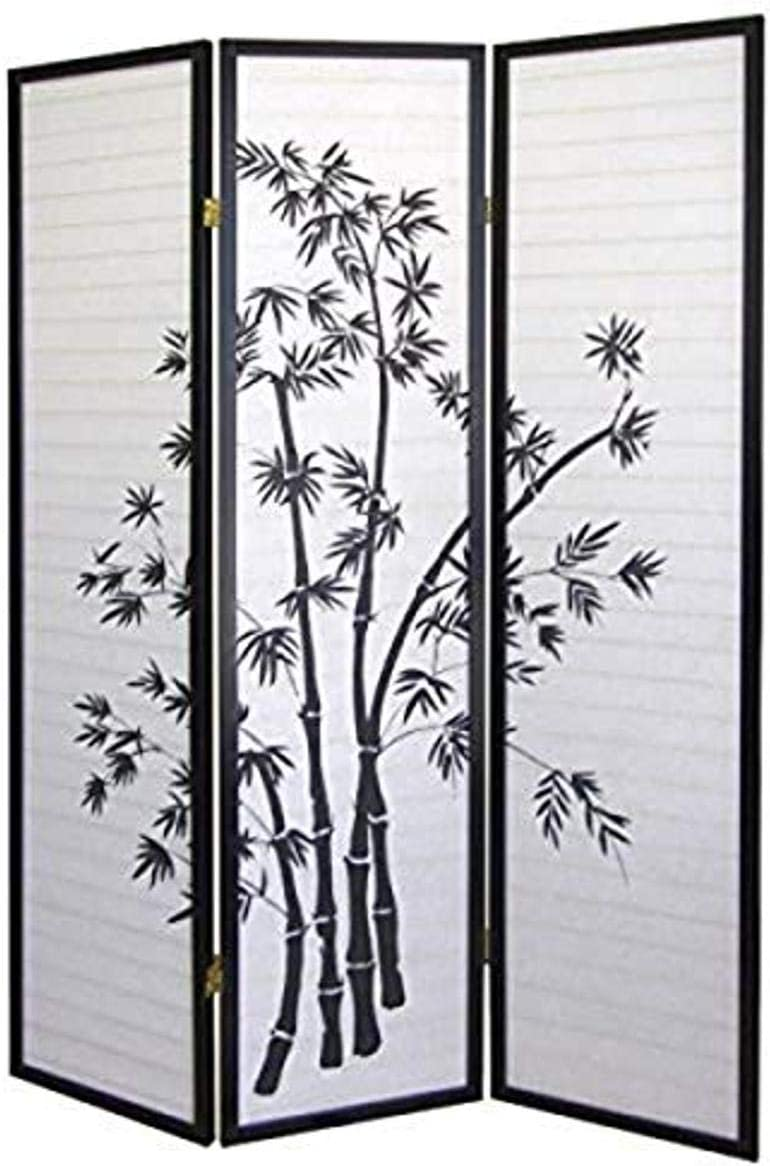 ORE International 3 Philadelphia Mall Panel Room Divider Selling and selling Bamboo -