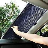 サンシェード 車 遮光 遮熱 自動伸縮 フロントサンシェード 吸盤式 プライバシーを保護する 取付け簡単 各車類対応 Joyhouse (S02)