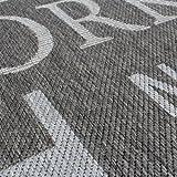 Teppich Modern City Sisal Optik Flachgewebe Designer Teppich in Grau, Grösse:80×150 cm - 2