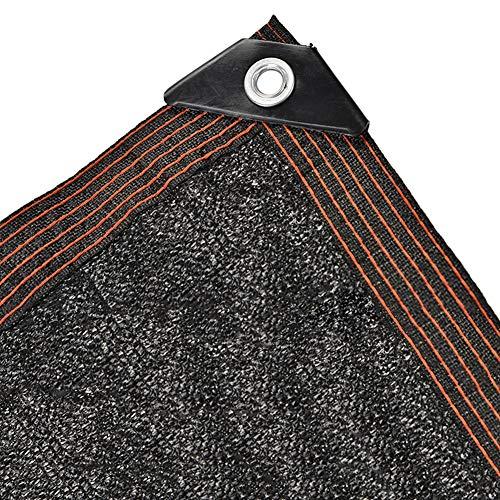 Markisen Beschattungsnetz Hochleistungs-Schattentuch mit Ösen, Mesh Sun Block-Stoff für Gartenblumenpflanzen, Schwarz, 2/3/4/5/6/8m Breit (Size : 6×7m)