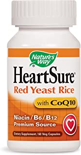 Nature's Way HeartSure Red Yeast Rice with CoQ10 + Niacin + B6 + B12 Premium Source, 60 Vcaps