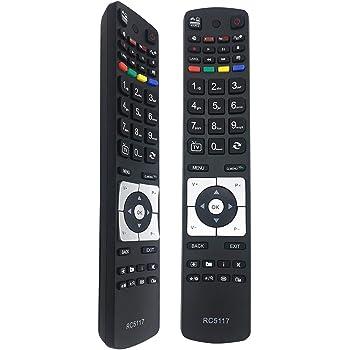 New Rc5117 Remote Control Replacement Hitachi Tv Remote Amazon Co Uk Electronics