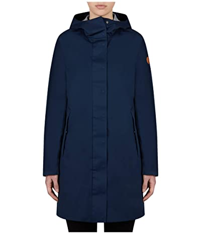 Save the Duck Bark X Long Hooded Coat (Navy Blue) Women