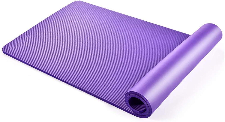 KYCD Sport und Fitness Yogamatte 10mm verlngerte Fitnessmatte umweltfreundlicher, geschmackloser Slip (Farbe   A, gre   185  80  1.5cm)