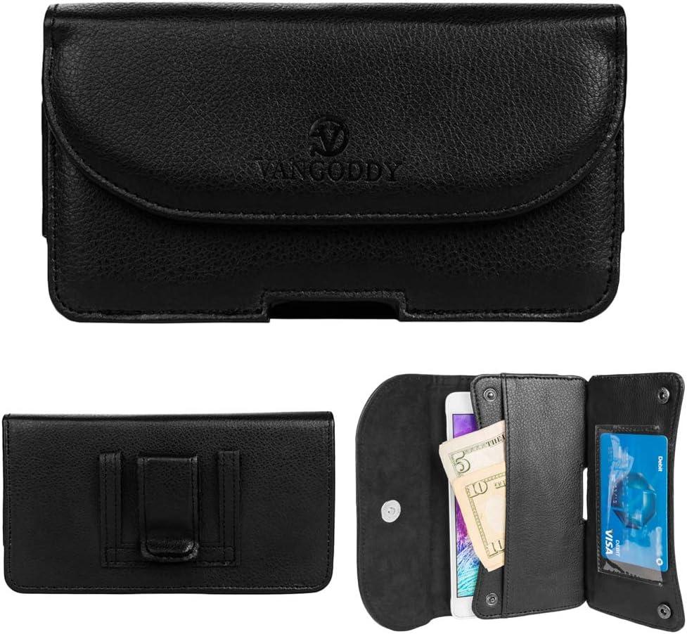Cellphone Belt Clip Holster Wallet Fit for LG K31, Q61, K51S, K61, Q51, W10 Alpha, Neon Plus, Stylo 5X, Harmony 3, Stylo 5+, Tribute Royal, Xpression Plus 2
