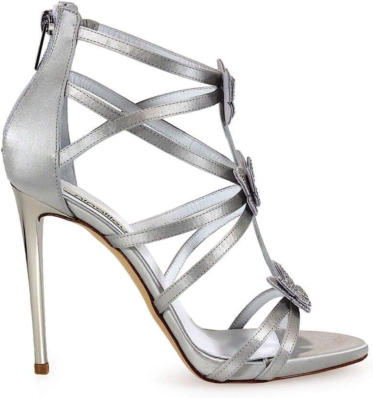 NINALILOU Luxury Fashion Damen 271006S1 Silber Sandalen Sandalen   Herbst Winter 19  hoher Rabatt