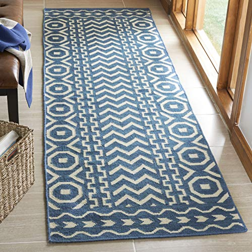 Safavieh Dhurries Collection DHU572A Handmade Flatweave Premium Wool Runner, 2