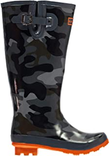Official Brand Kangol Printed Festival Wellington Boots Junior Boys Camouflage Wellies Gum Boot