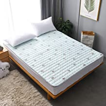 Brushed Fabric Mattress Protector Not Waterproof Sheet,Portable Non-Slip Mattress Topper with Elastic Straps,Quilted Fitte...